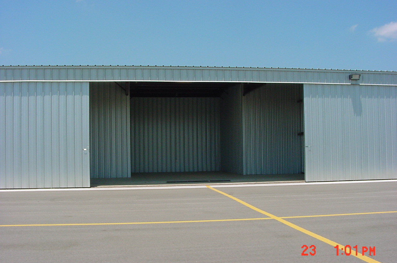 A view of a hangar at the Brownwood Regional Airport.
