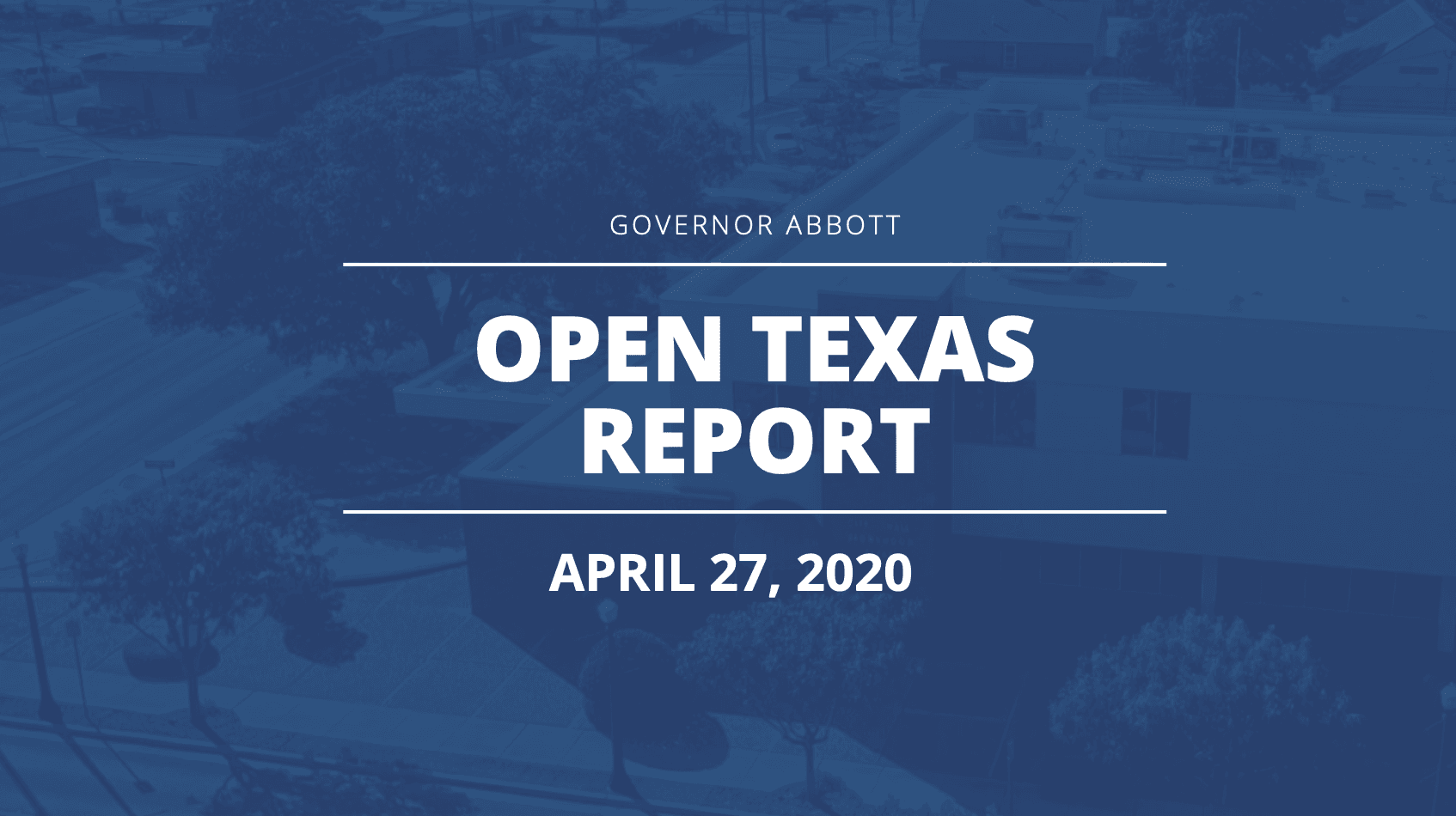 Open Texas Report