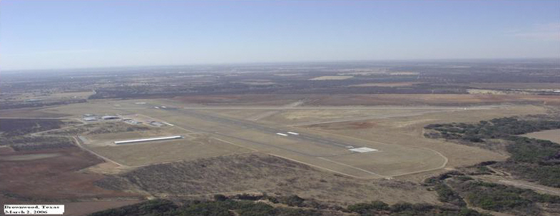 An aerial view of the regional airport.